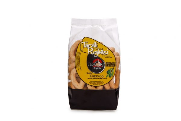 Taralli tradizionali pugliesi gusto classico senza olio di palma